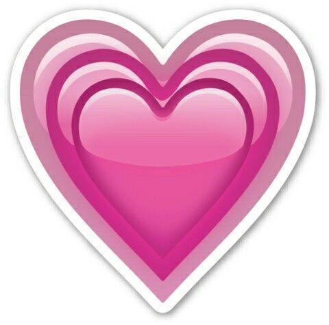 Pink Heart Emoji De Corazon Emojis De Wpp Emojis