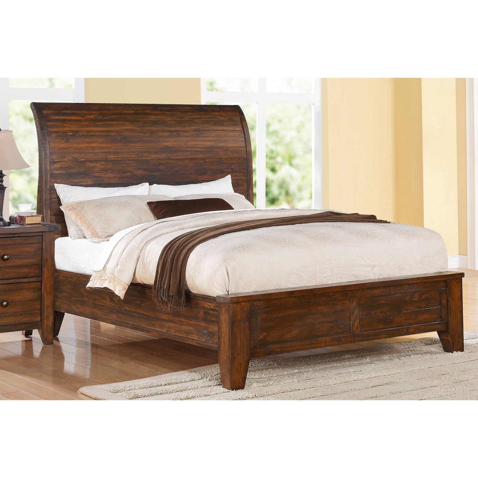 Cally Solid Wood Bed, Size California King in 2019 Wood