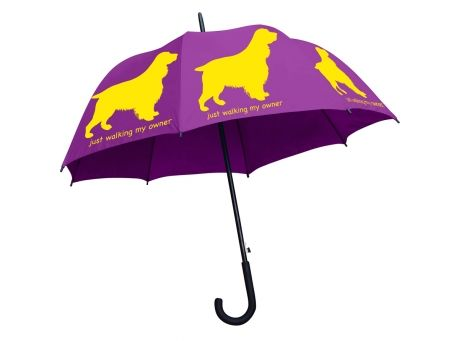 Designer Walking Stick Pet Umbrellas on sale w/ free shipping @Coupaw.  Many breeds available!