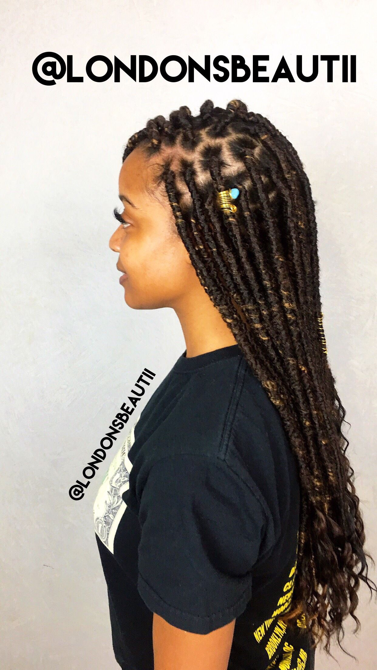 Goddess Faux Locs Done By London S Beautii In Bowie