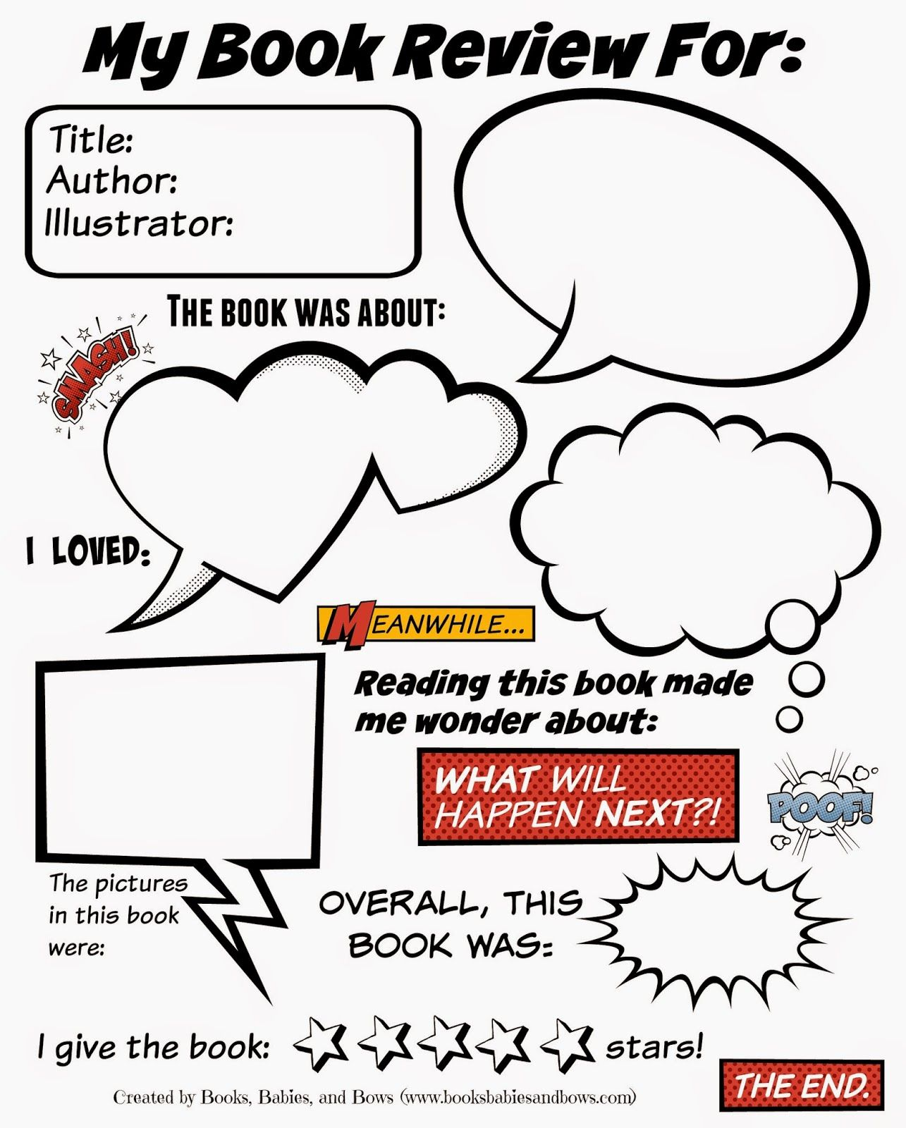 books babies and bows book review template for kids my oldest who is currently in second grade always has a lot to say about the books we if she wants to sit down to write a review