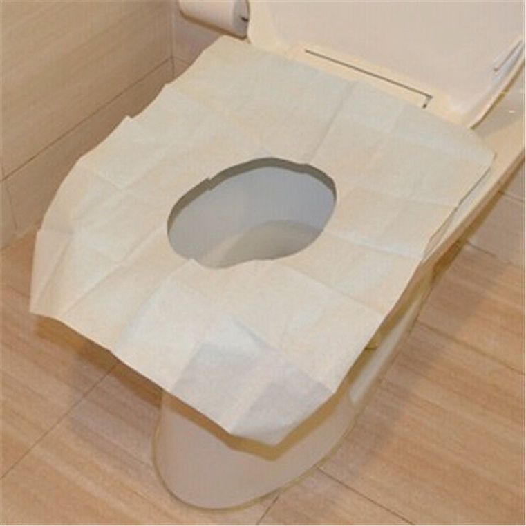 1 68aud Useful 1 Pack 10pcs Disposable Covers Paper Toilet Seat