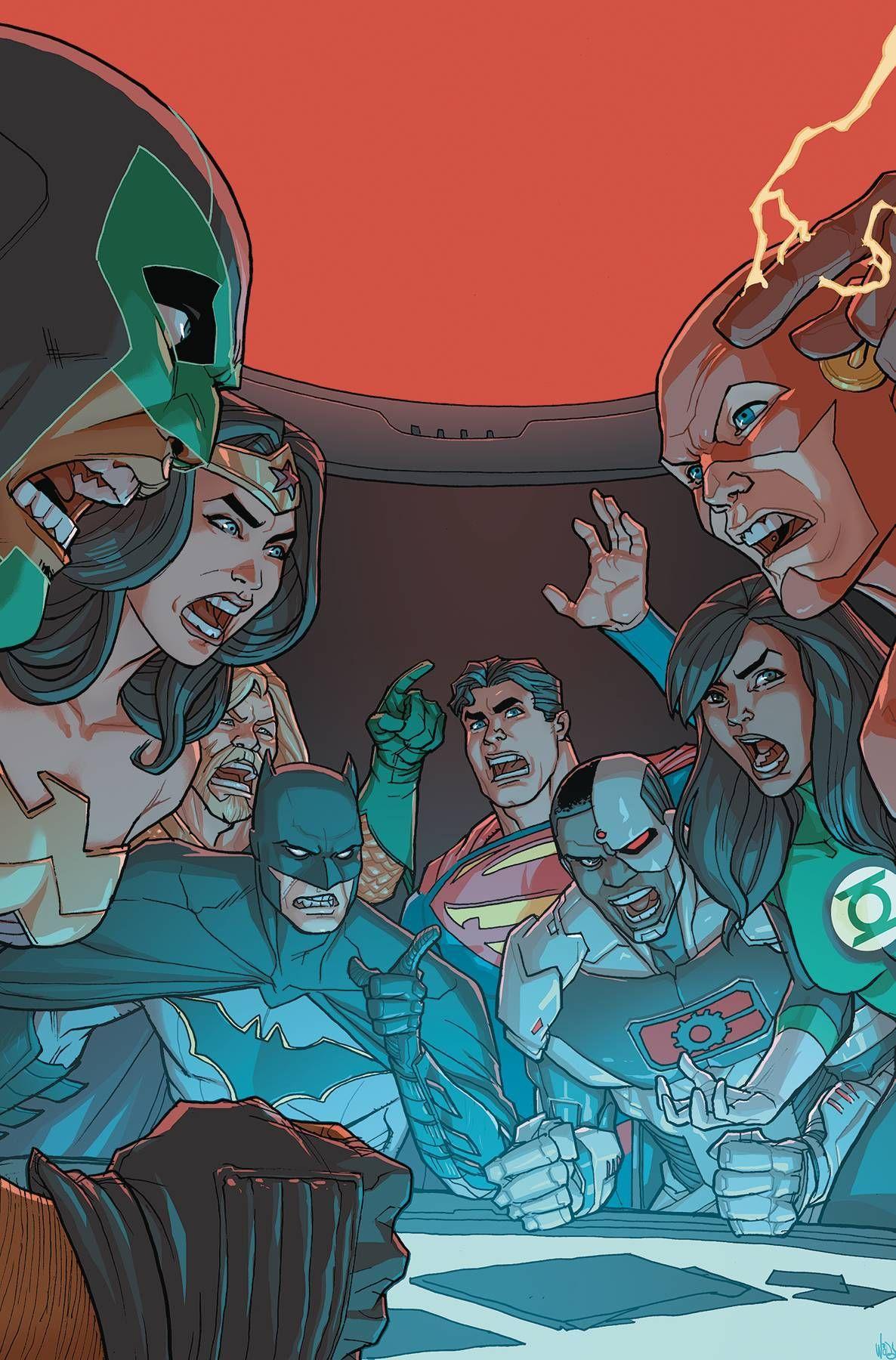 JUSTICE LEAGUE #37 PETE WOODS MAIN COVER DC COMICS//2018
