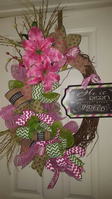 He is risen indeed Easter Wreath