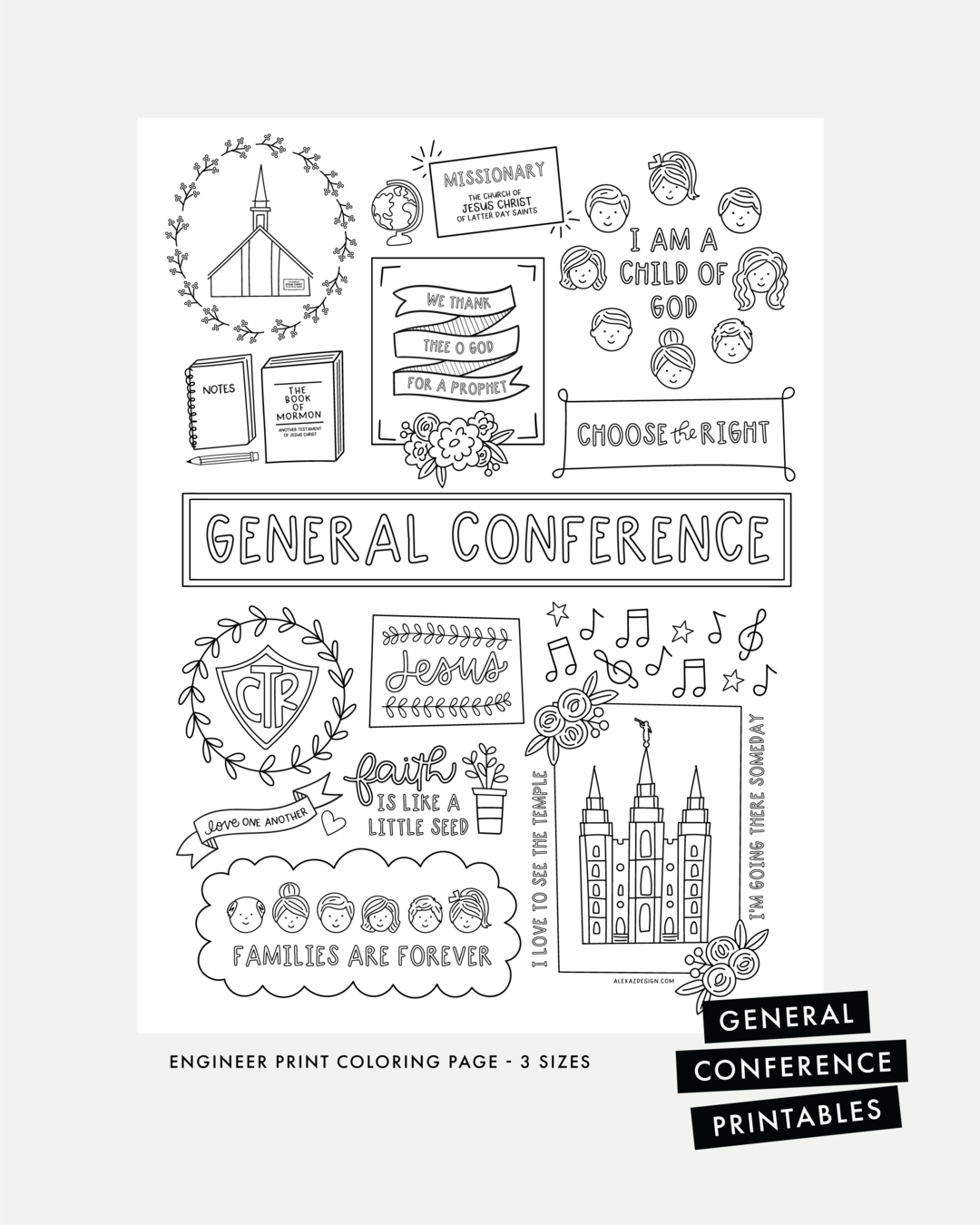 General Conference Coloring Page Printables General Conference General Conference Activities Printable Coloring Pages