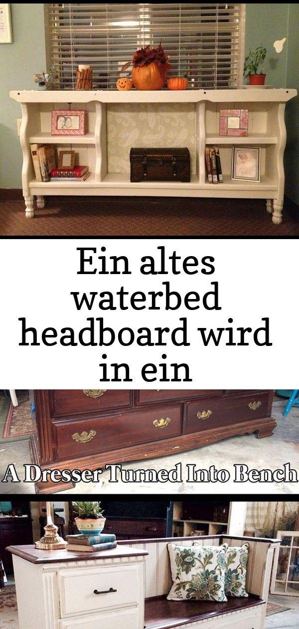 Ein altes waterbed headboard wird in ein bücherregal eingeschaltet  dies ist so eine nette idee 32 EIN ALTES WATERBED HEADBOARD WIRD IN EIN BÜCHERREGAL EINGESCH...