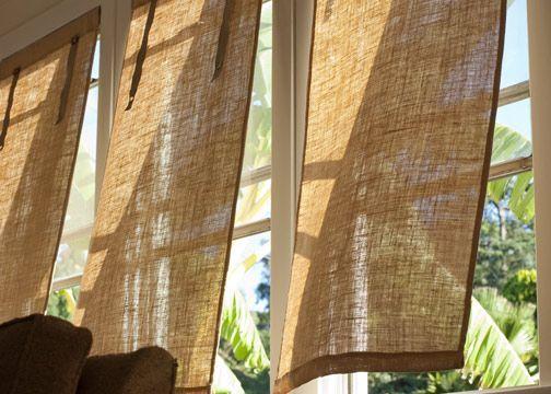 Diy Burlap Window Coverings In 2019 Burlap Window