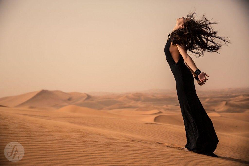 Dark Desert editorial shot for Zink Magazine in Dubai by Lindsay Adler