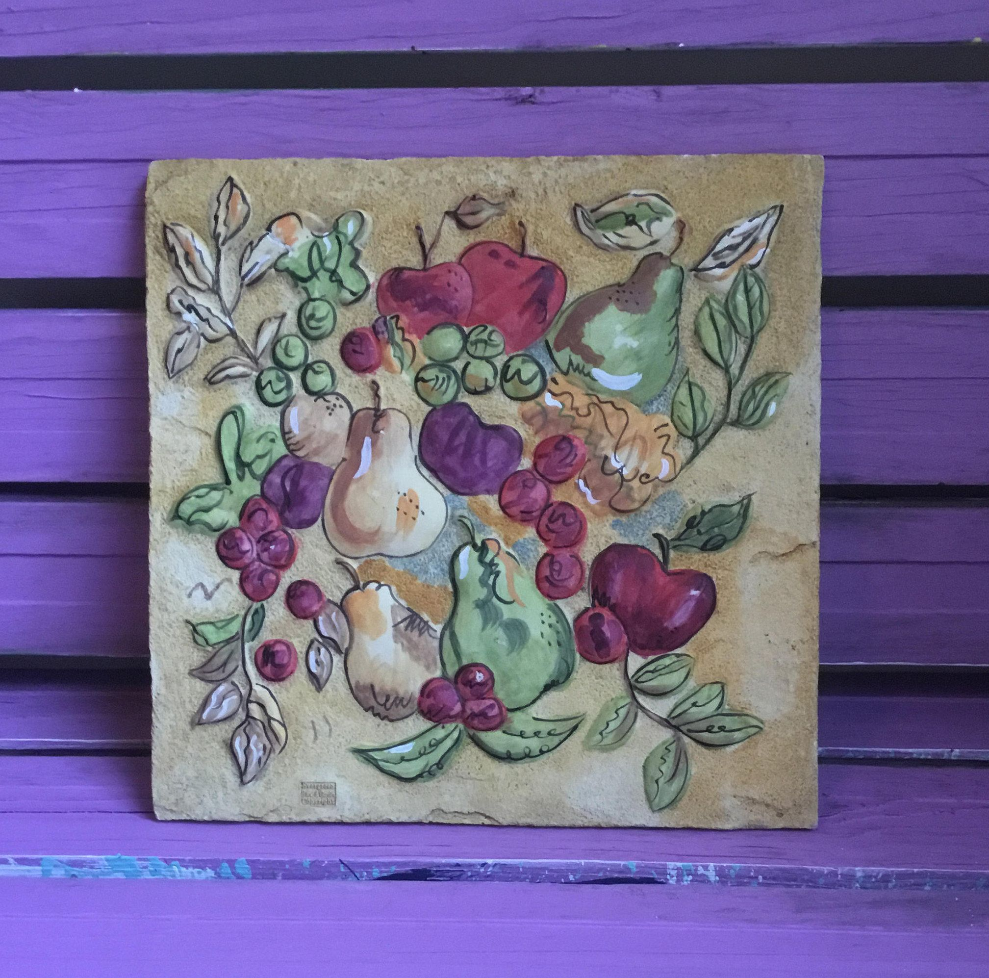 Garden wall plaque hanging art by evergreen home and garden tile w