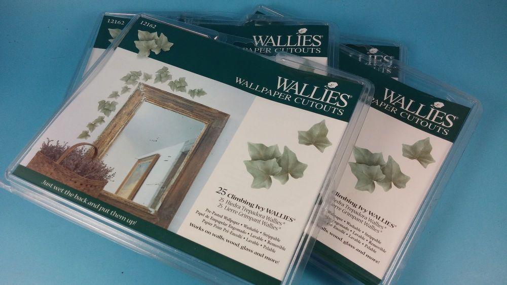 Wallies Wallpaper Cutouts Climbing Ivy 12162 Wall Decor Vine Leaves