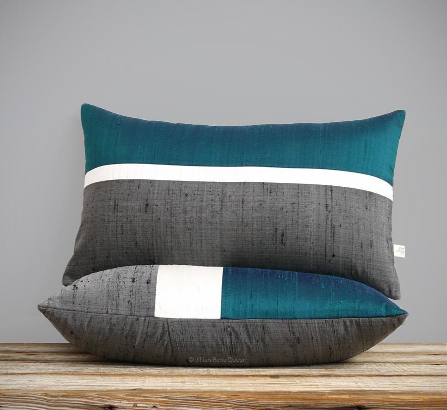 Ochre Linen Horizon Line Pillow Cover
