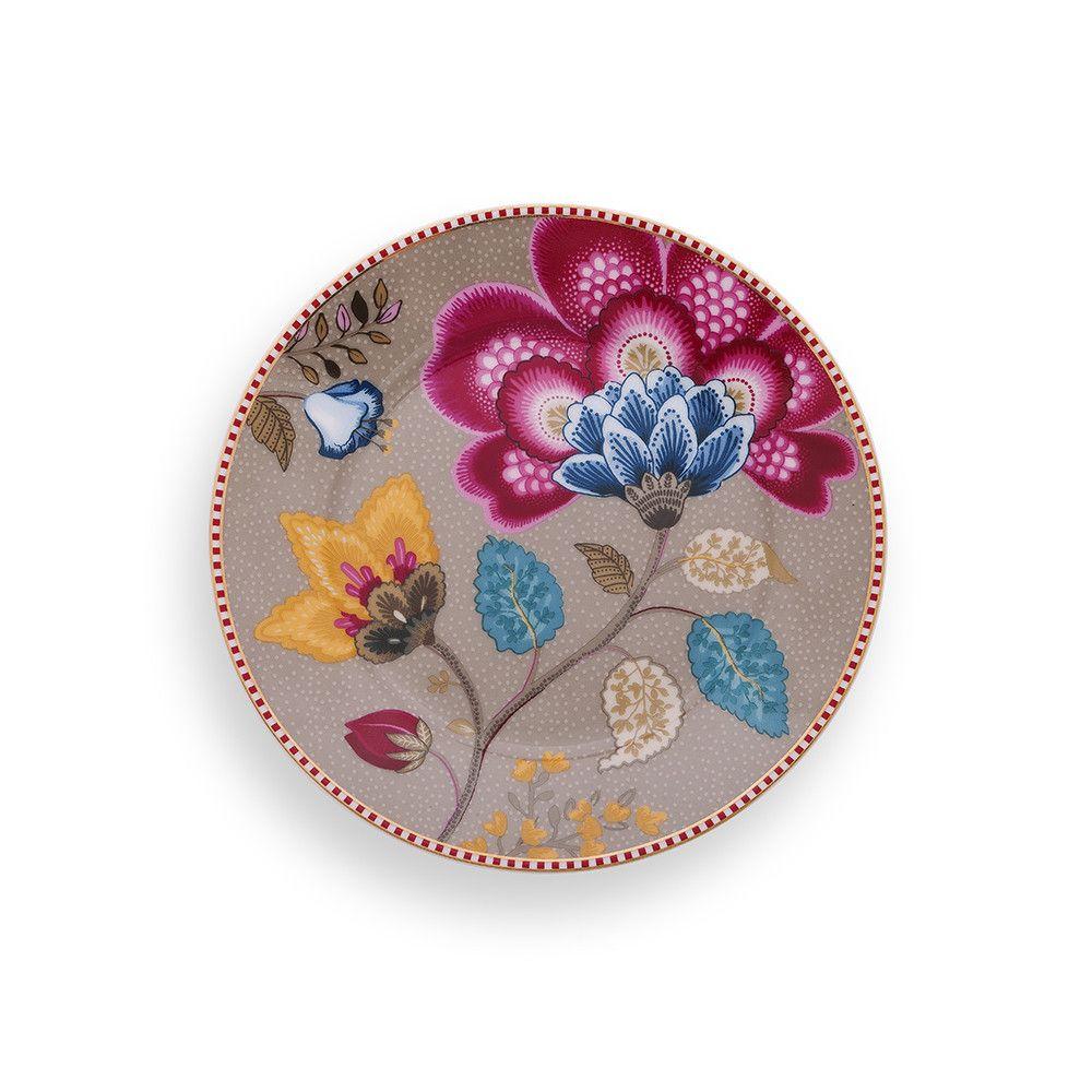 Discover the Pip Studio Fantasy Side Plate - Khaki at Amara