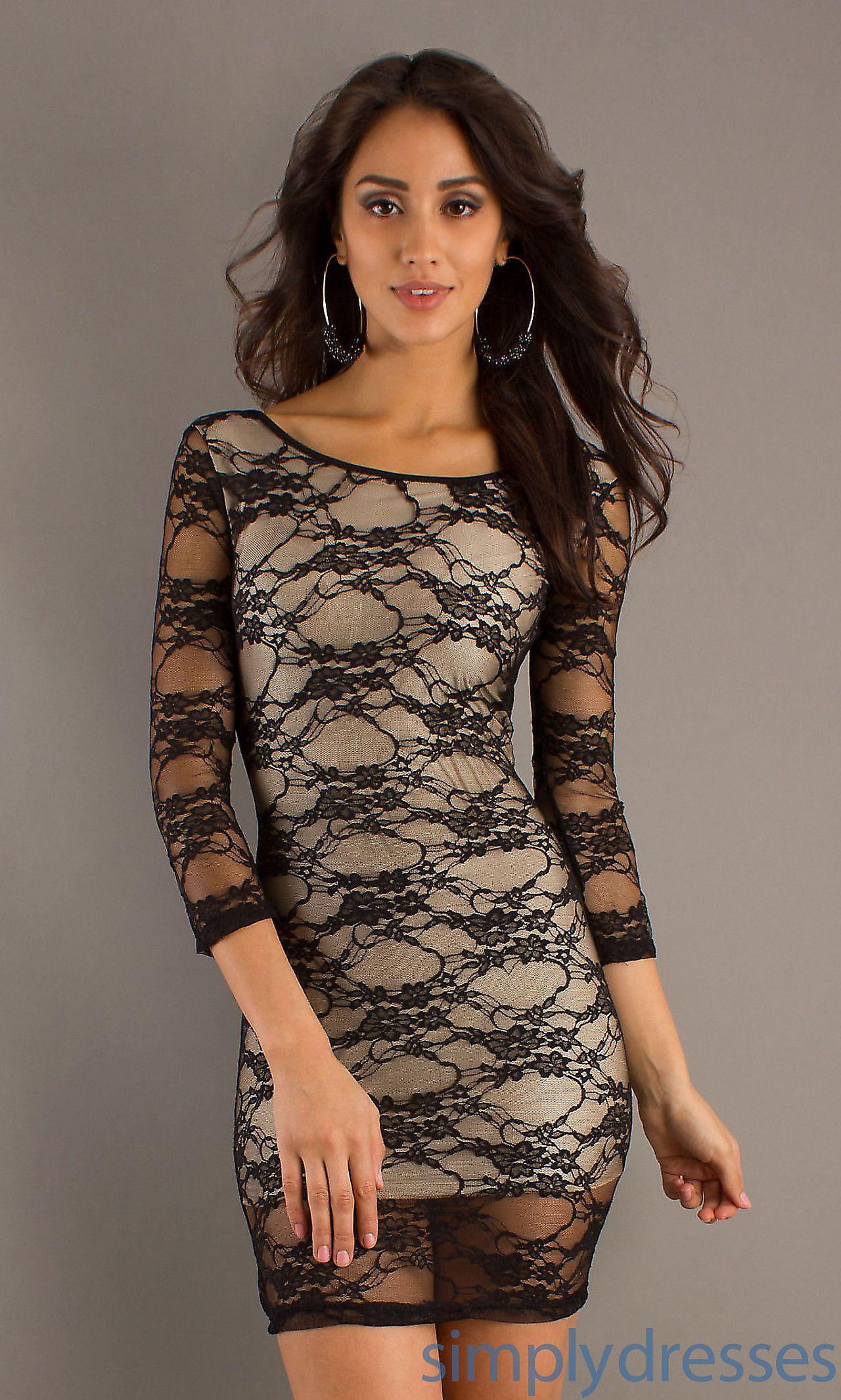 Short Lace Dress CH Belas Mulheres Pinterest Lace dress