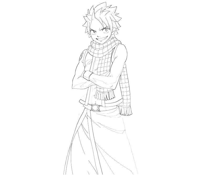 Natsu Dragneel | Fairy tail, Coloring pages, Free coloring ...