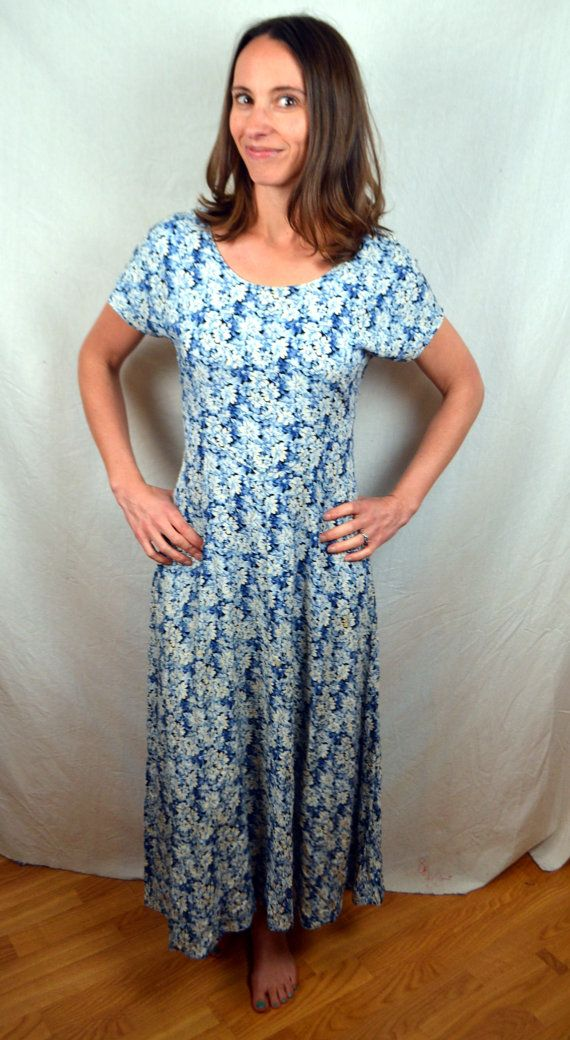 Vintage 80s 90s Summer Fl Maxi Dress By All That Jazz