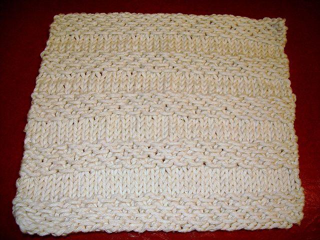 textured stripe knit dishcloth | knitting | Pinterest