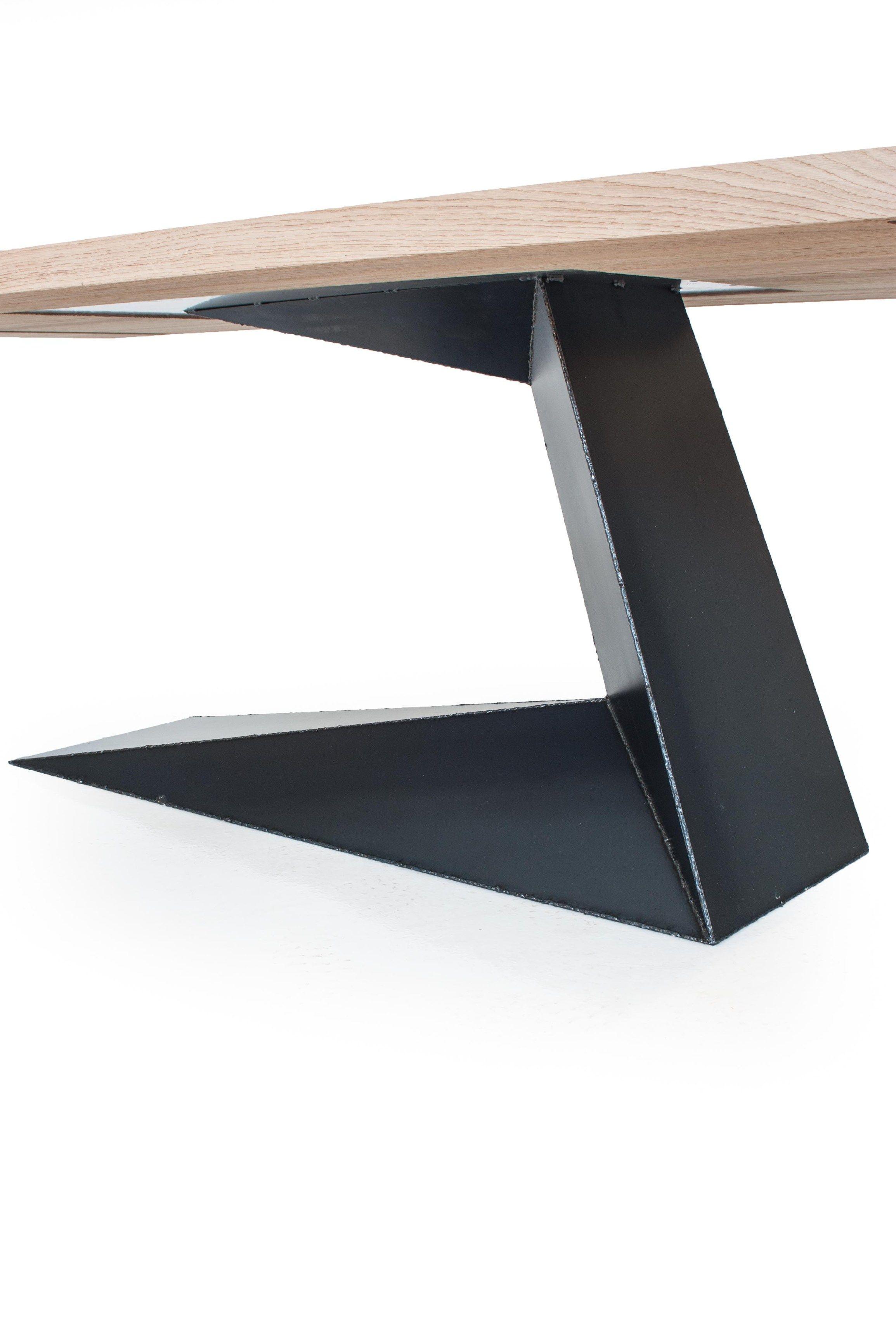 Tavolo rettangolare in rovere e ferro opl by riva 1920 for Tavolo rettangolare design