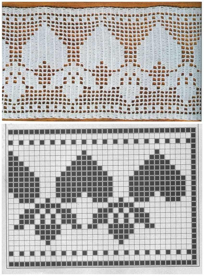 MIRIA CROCHÊS E PINTURAS: BARRADOS DE CROCHÊ COM CORAÇÕES | Crochet ...
