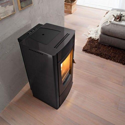 Dalia 6kw Air Structure Pellet Stove Metal Black Pellet Stove Stove Home Appliances