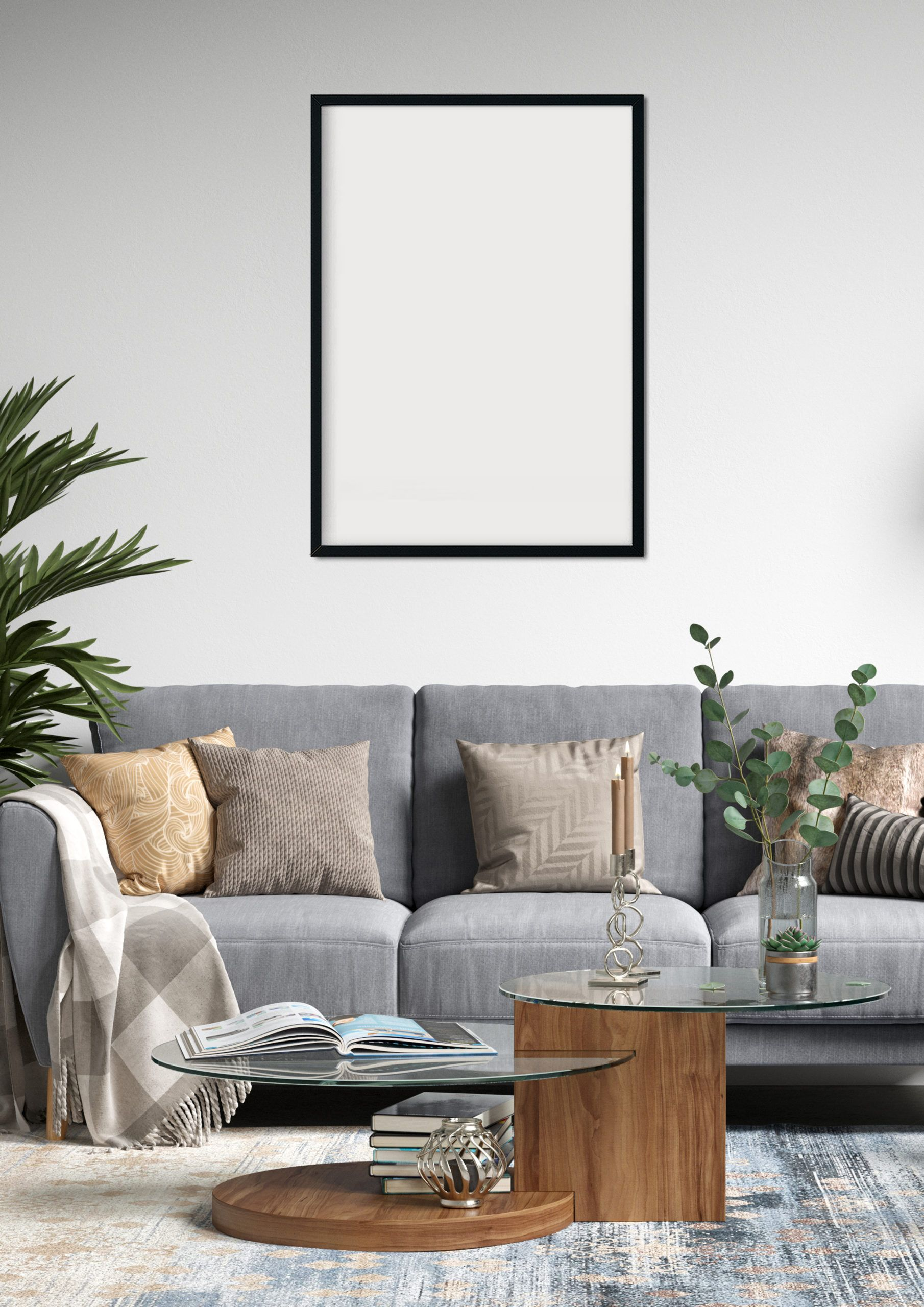 Pin By Fadhli Shabri On A3 Frame Mockup Home Decor Frame Mockups Decor View modern home decor living room png