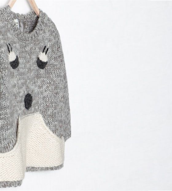 ZARA - KIDS - ANIMAL FACE SWEATER
