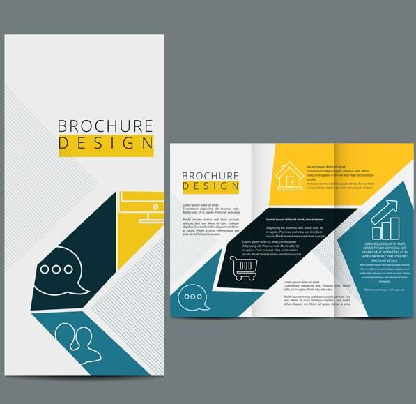 Three fold brochure template vector design Web Design - free pamphlet