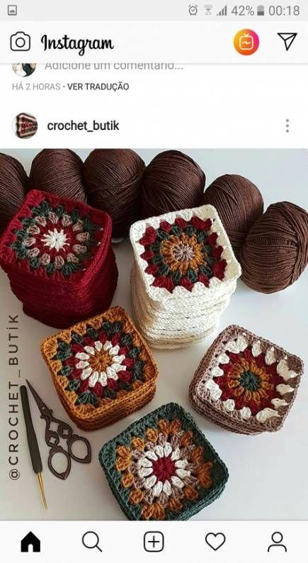 Photo of 62+ Ideen für Häkeldeckenmuster Oma quadratische Farbe #crochet #crochet bla …