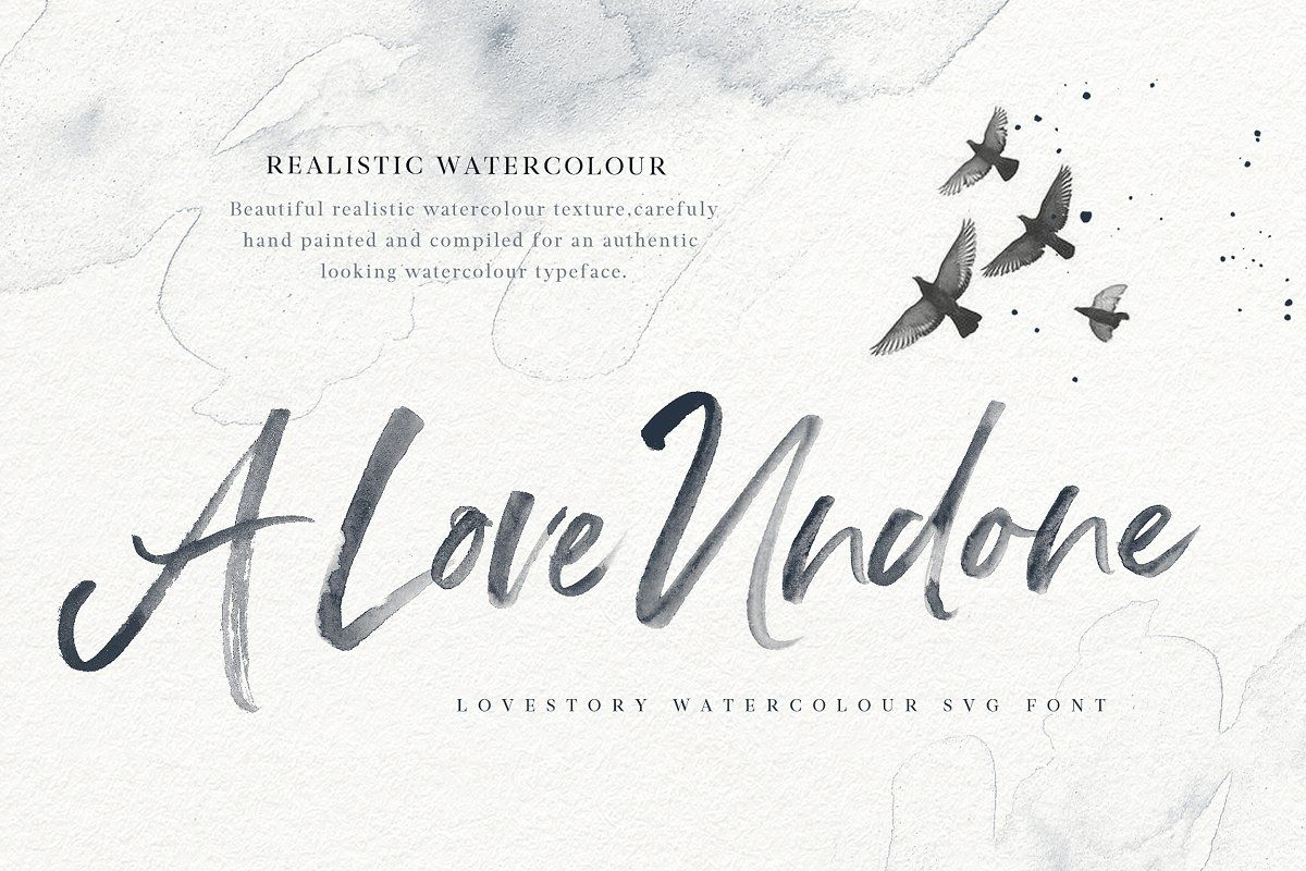 The Lovestory Font Collection Watercolor Lettering Lettering