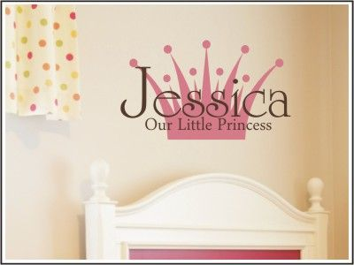 Our Little Princess Wall Decal
