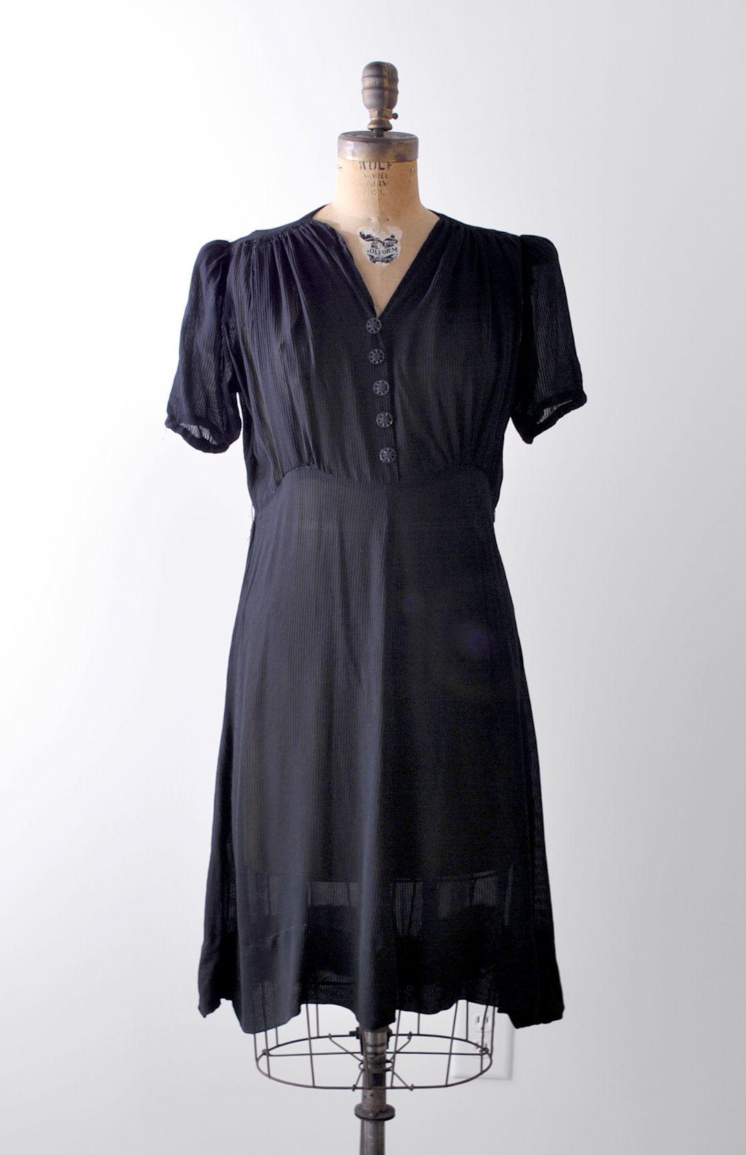 1930 S Black Chiffon Dress Vintage 40s Large Dress Etsy Black Chiffon Dress Dresses Large Dress [ 1679 x 1085 Pixel ]