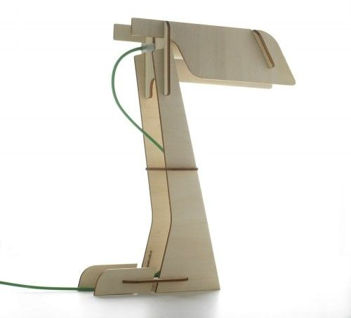 Zeta lamp - this one is lasercut, but it would be easy to ...