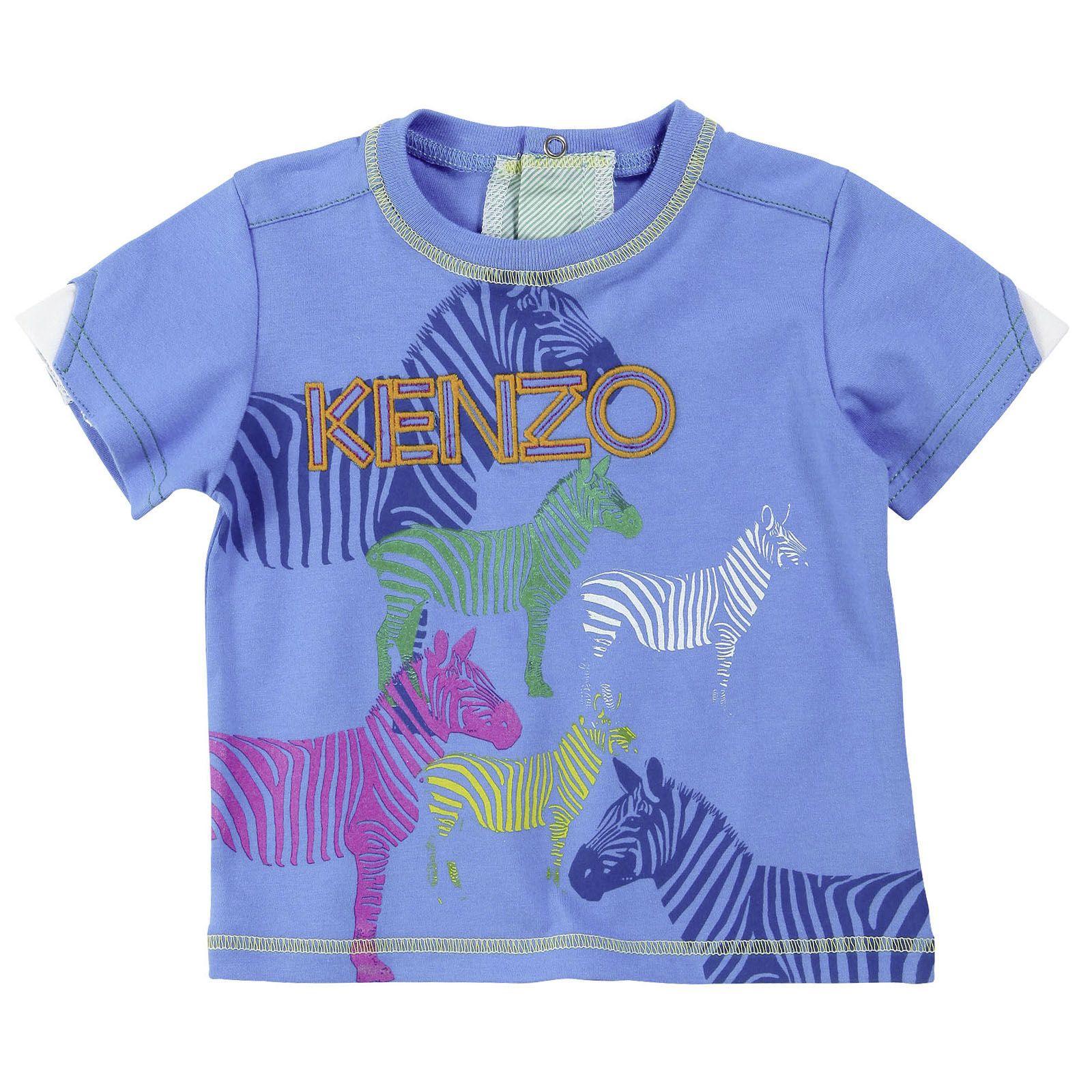 Kenzo Kids Tee shirt en jersey bleu azur Bleu Melijoe