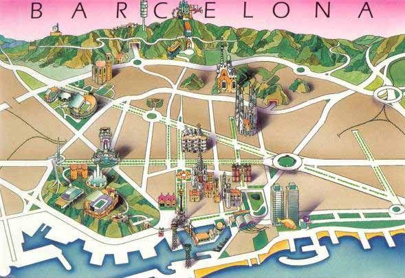 Barcelona Tourist Map Google Search Mapa Turistico De