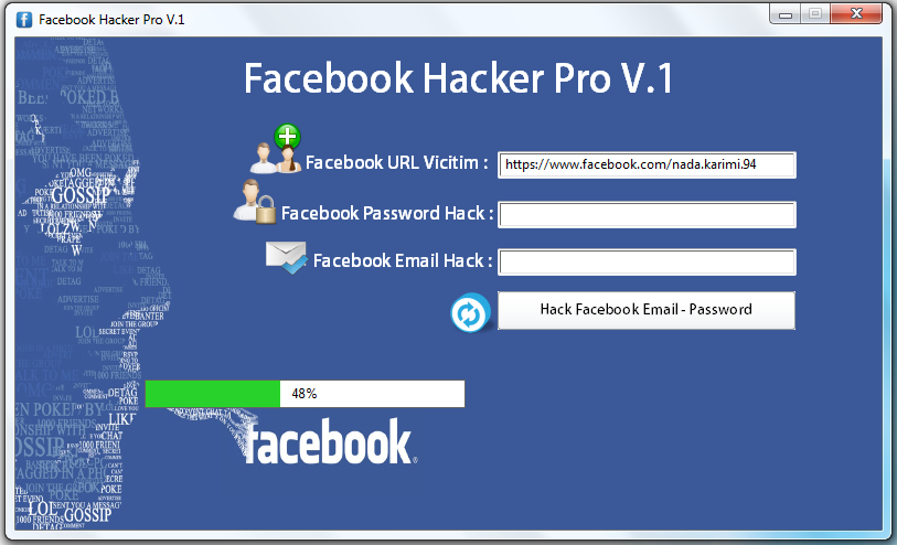 Facebook Hacker Pro - Full Cracked Version 1 0 is the latest