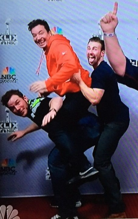 I love Jimmy Fallon and Chris Evans I don't know who that other guy is, nor do I care....