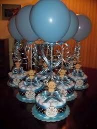 Resultado de imagen para centros de mesa elegantes para baby shower
