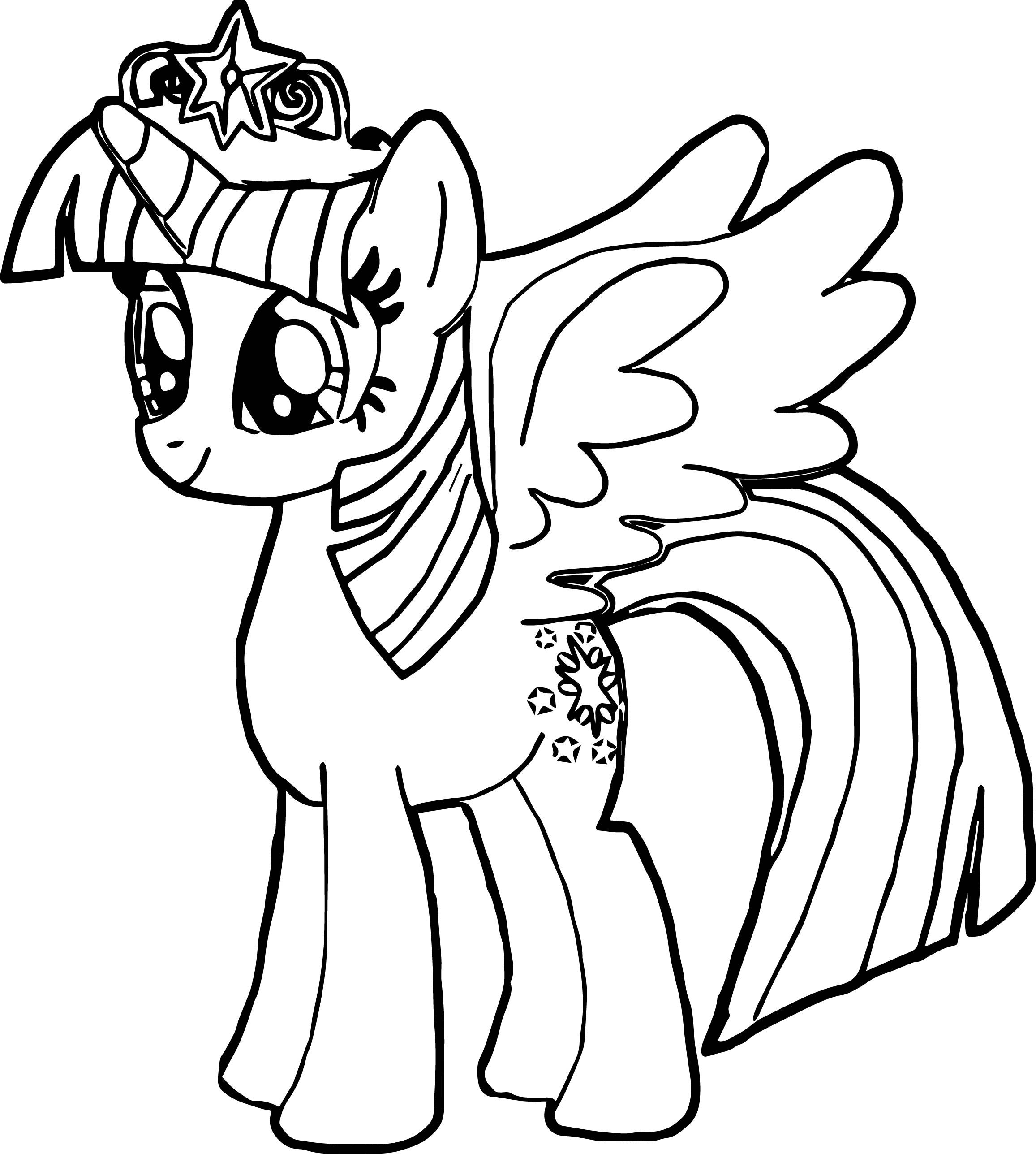 Nice New Princess Twilight Sparkle Coloring Page Gambar