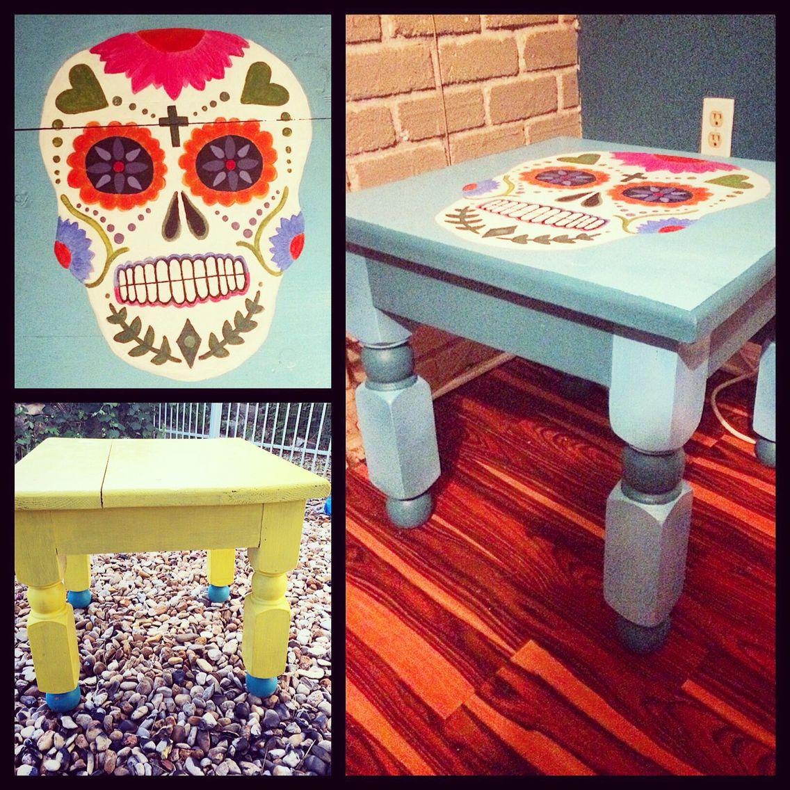 Day Of The Dead Side Table Diy Furniture Diadelosmuertos Customfurniture