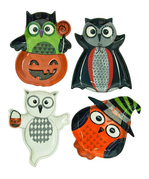 Take a look at this All Owl's Eve Dessert Plate Set on zulily today!