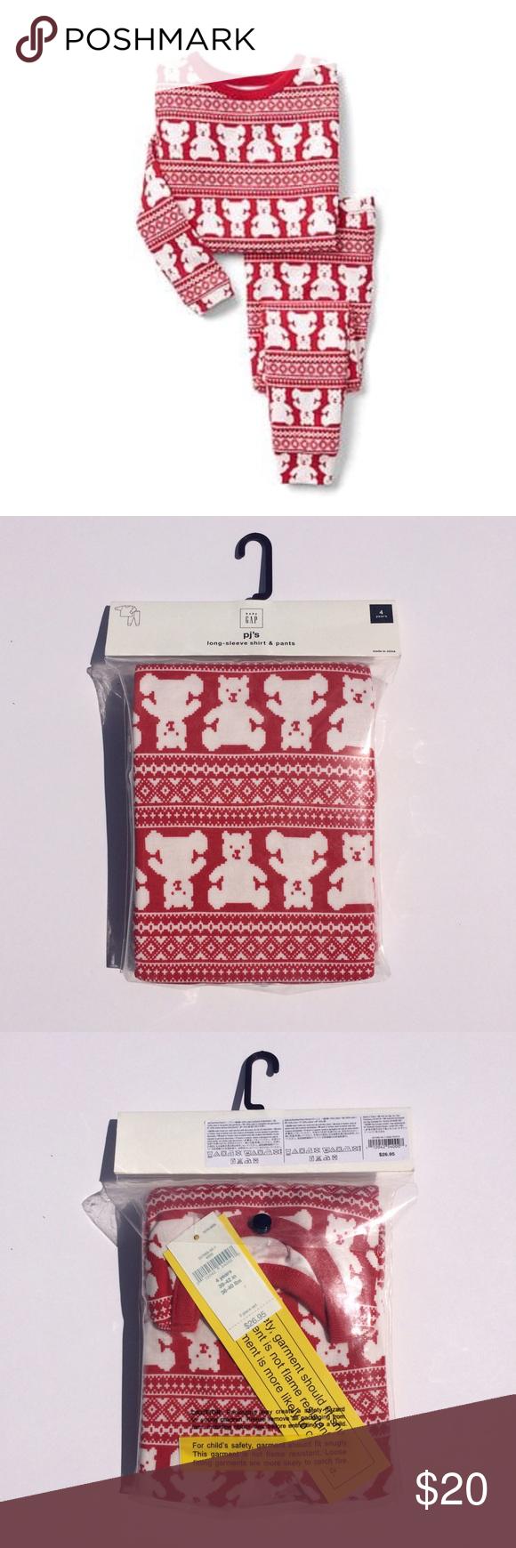gap christmas pajamas red and white gap christmas pajamas new in bag gap pajamas pajama sets