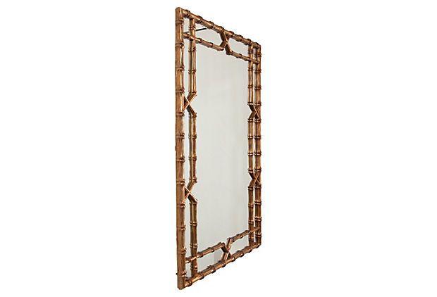 Grand Faux-Bamboo Gold Mirror on OneKingsLane.com