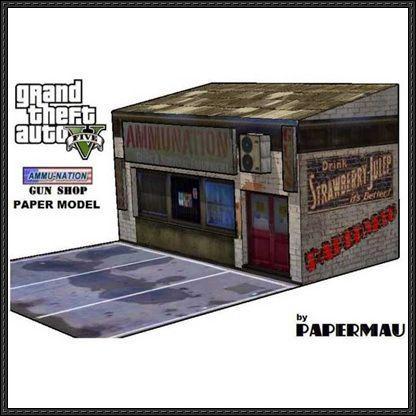 GTA V - Ammu Nation Gun Shop Free Paper Model Download