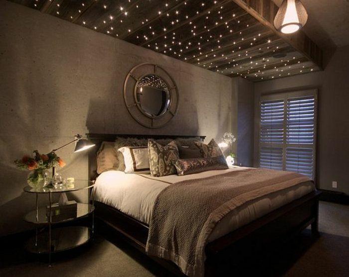 Wonderful Schlafzimmer Beleuchtung Sternenhimmel #6: 44 Fotos: Sternenhimmel Aus Led Für Ein Luxuriöses Interieur! | LED,  Sternenhimmel Und Bett