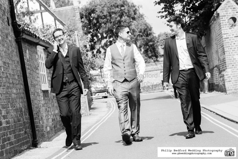 #Groomsmen walking to the pub for pre #wedding pint.