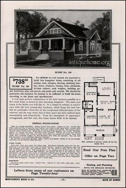 1915 Montgomery Ward Book Of Homes In 2019 Pretty