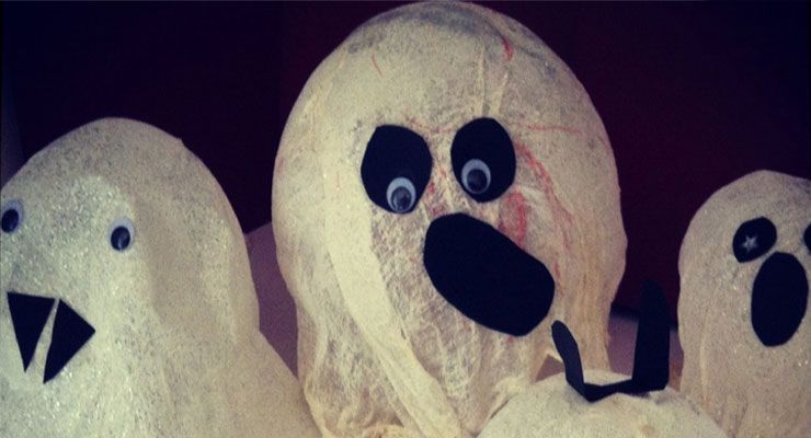 Ghastly Ghost Decorations Halloween Pinterest Ghost decoration - halloween arts and crafts decorations