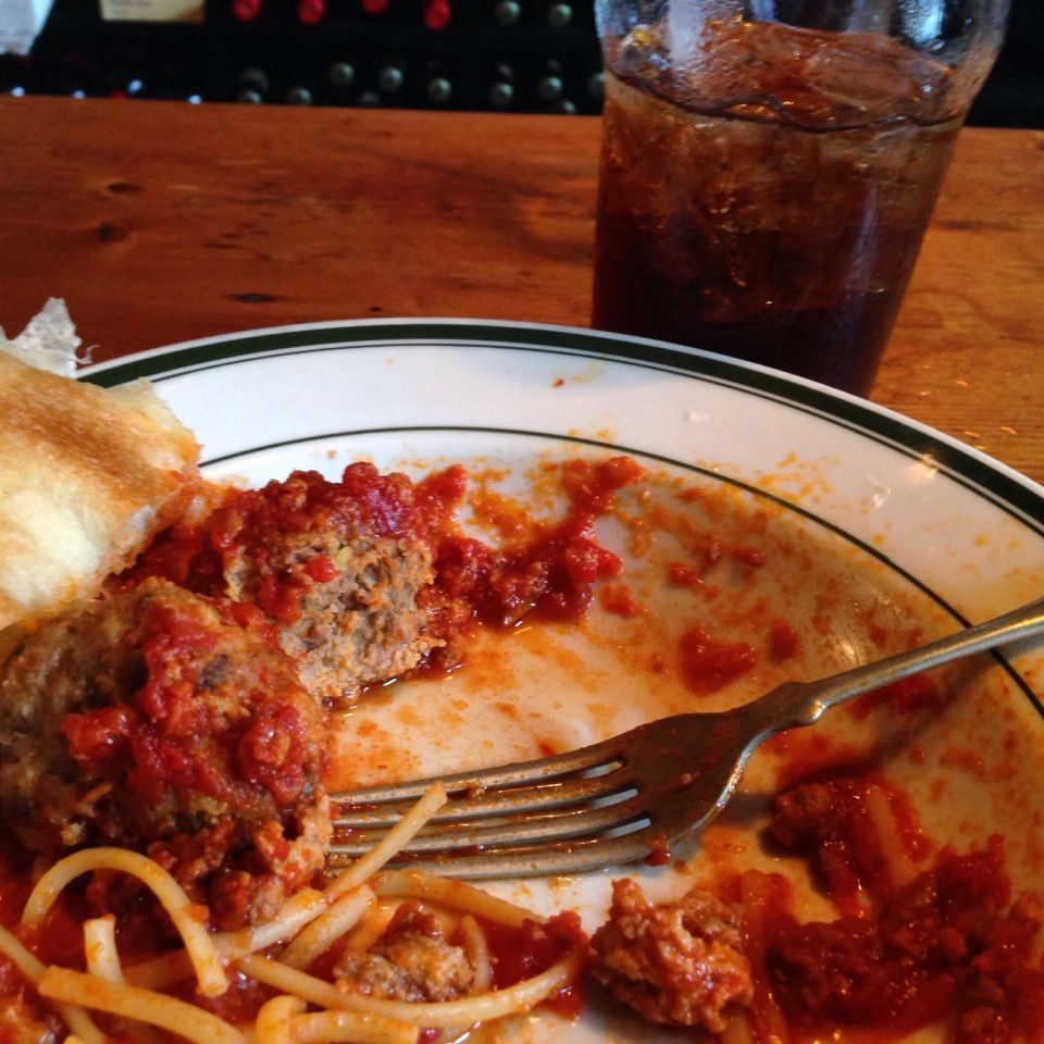 Homemade sauce with Italian meatballs. #foodporn #foodie