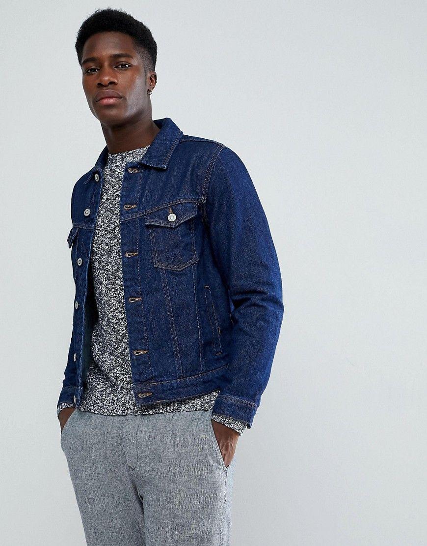 a986deeb4fe Mango Man Denim Jacket In Dark Wash | Products | Denim jacket men ...