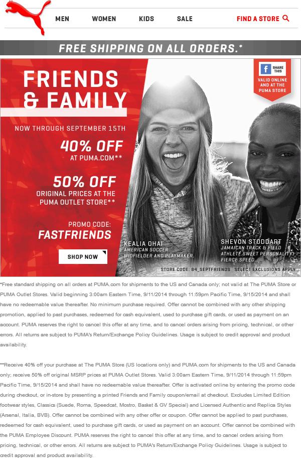puma store promo code - 60% remise