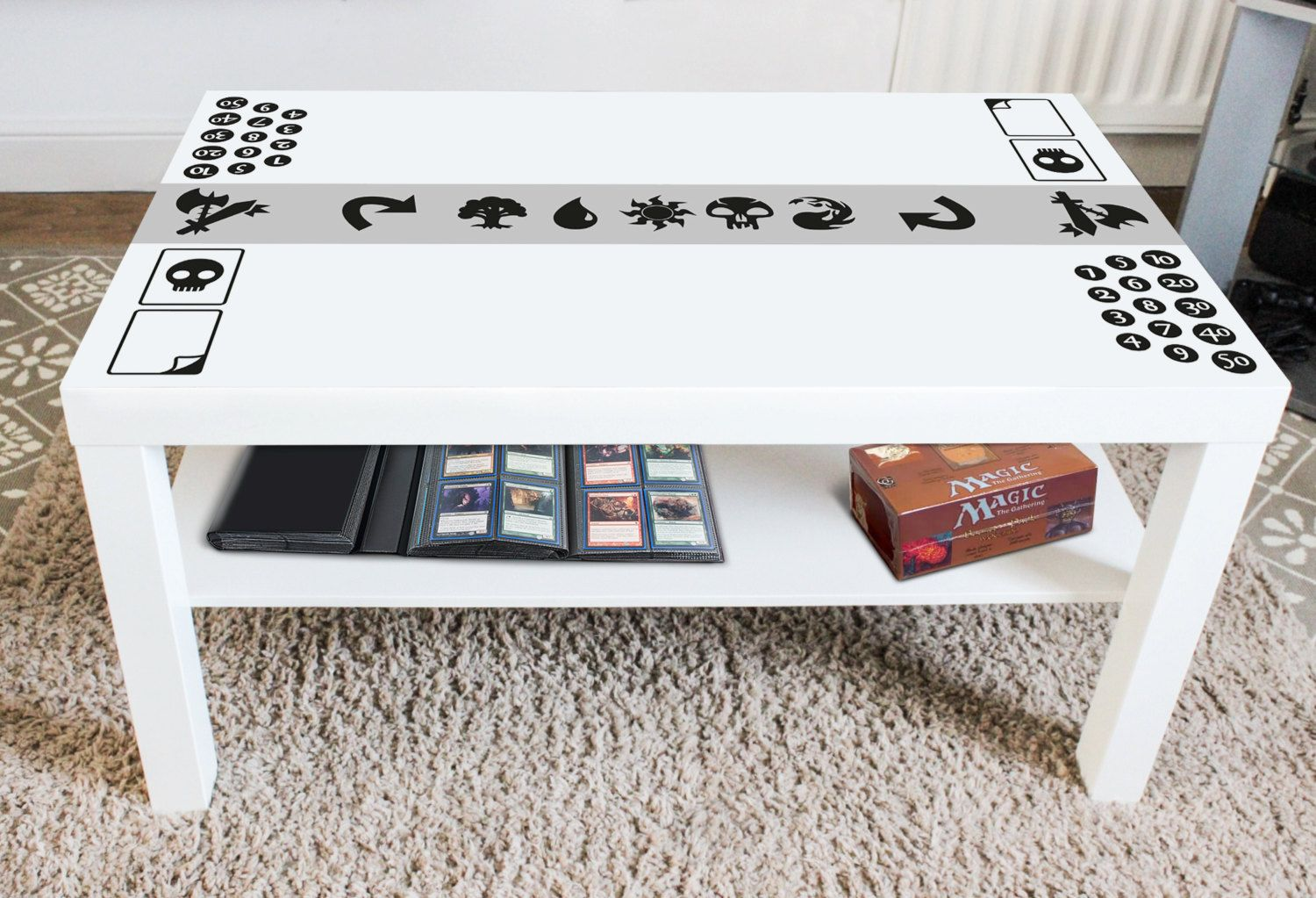 Mtg Magic The Gathering Vinyl Decal Create Your Own Game Table Play Mat Home Decor Trading Card Magic The Gathering Magic The Gathering Cards The Gathering